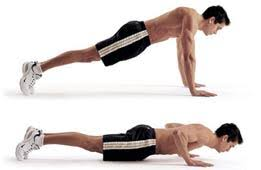 Tricep And Shoulder Pushups.