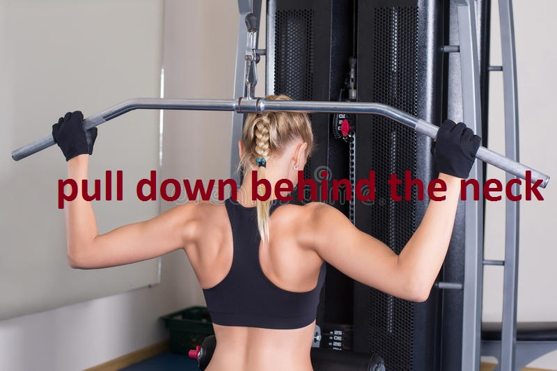 behind  neck pulldowns