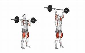 Front Barbel Shoulder Press Performance