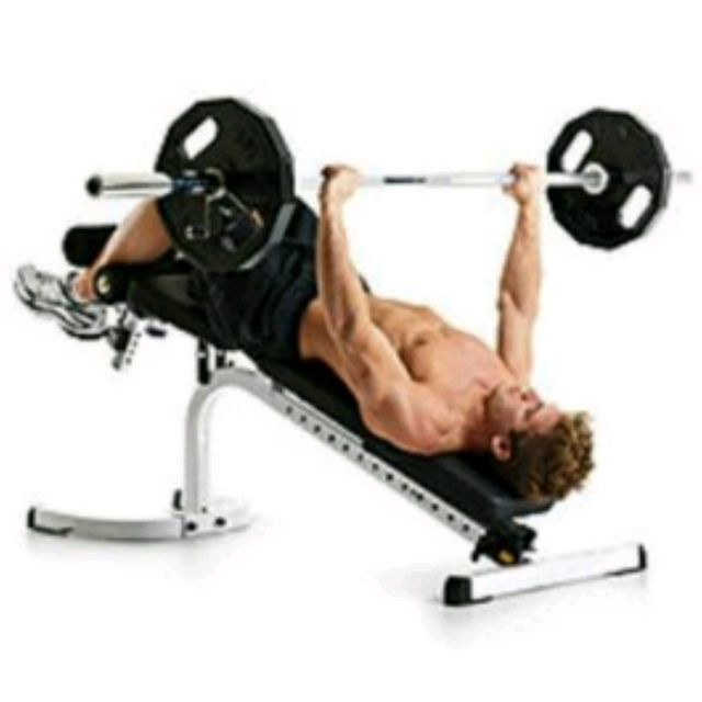 image of man doing Decline Barbell Chest Press