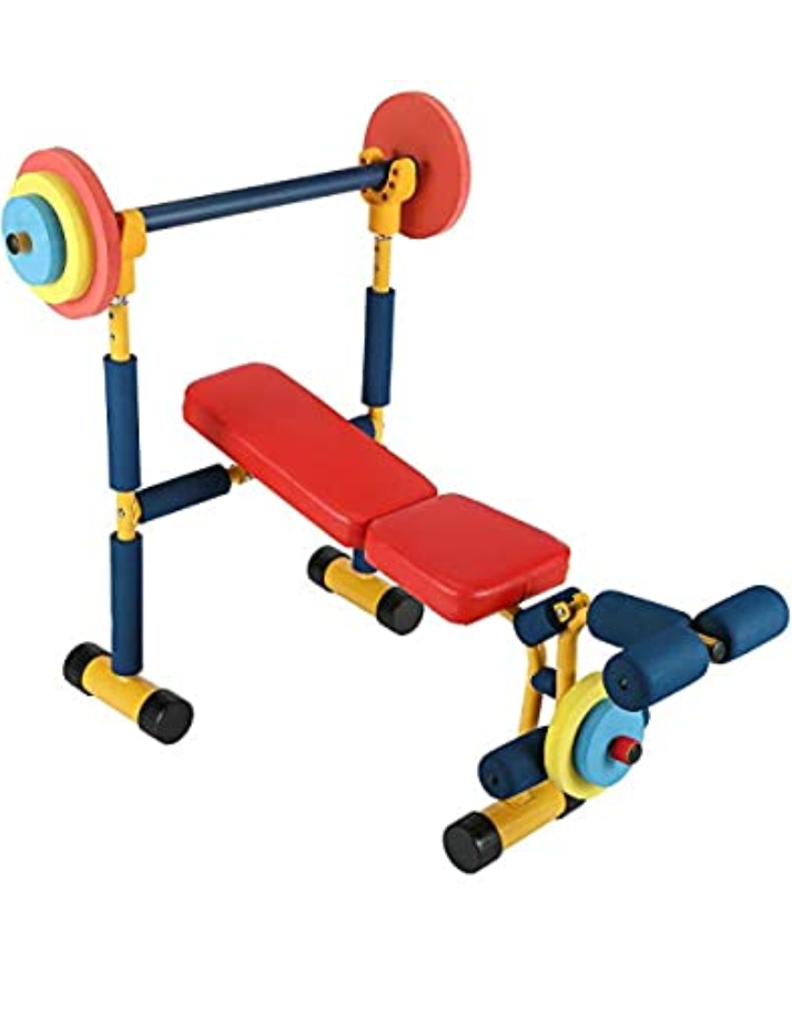 kid's weight bench set