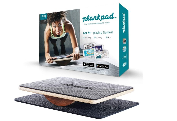 Plankpad Balance Board- a woman with Balance Board doing exercise