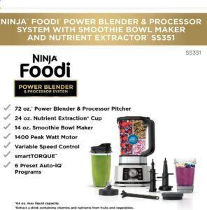 Ninja Foodi SS351 Power Blender