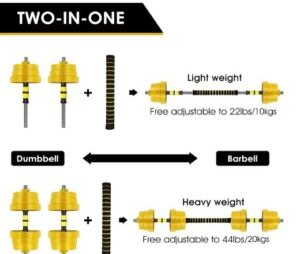 CDCasa Adjustable dumbbell Set -What Is The Best Olympic Dumbbell Set To Train, Tone, And Lean Muscle From Home?