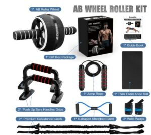 Luyata Ab Wheel Roller Kit  -What Portable Quality Abdominal Exercise Equipment Better For At-Home Workout?