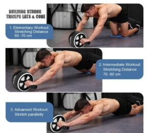 Luyata Ab Wheel Roller Kit - What Portable Quality Abdominal Exercise Equipment Better For At-Home Workout?