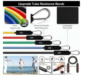 Resistance band set -What Minimum Exercise Equipment Needed To Stay In Shape Without Going To The Gym?